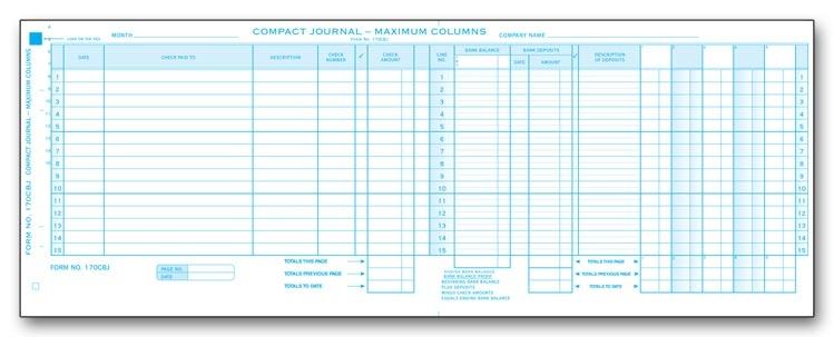 Compact Cash Disbursement Journal