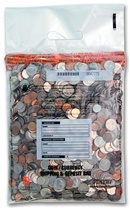 "10"" x 13"" Small Clear Coin Bag"