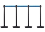 4 QueueMaster Barrier Kit with 8.5 Feet Belts
