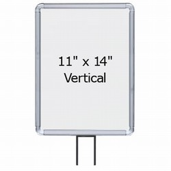 "11"" x 14"" Radius Corner Sign Frame for 7' Beltrac Stanchons"