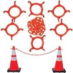 Traffic Cone Chain Connector Kit with Reflective Collar