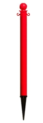 "2.5"" Diameter Plastic Ground Pole"