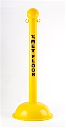 "3"" Diameter Safety Stanchion with Preprinted Safety Label"