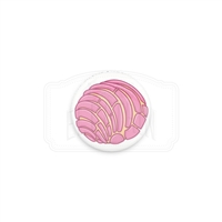 "Pan Dulce ""Concha"" 1"" (Inch) Button - Strawberry"
