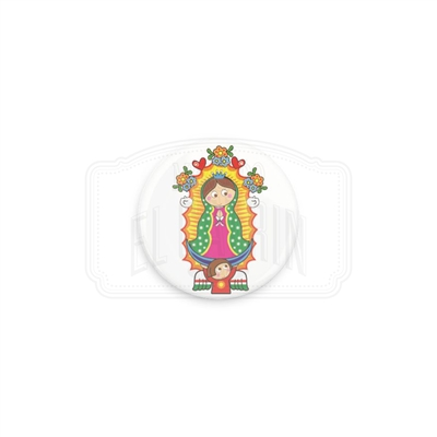 "Virgencita 1"" (Inch) Button"