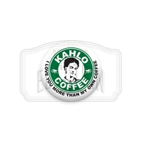 "Kahlo Coffee 1"" (Inch) Button"