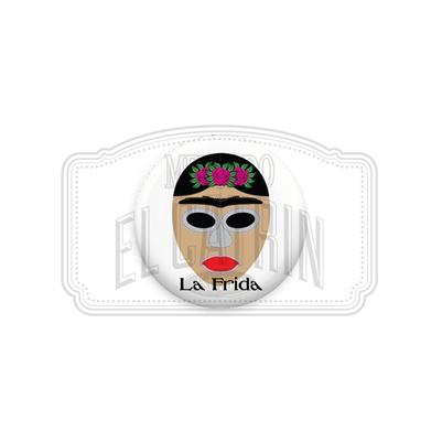 "Frida - Lucha Libre Mask 1"" (Inch) Button"