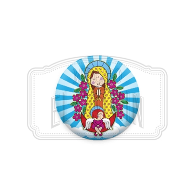 "Virgencita Angelita 1"" (Inch) Button"