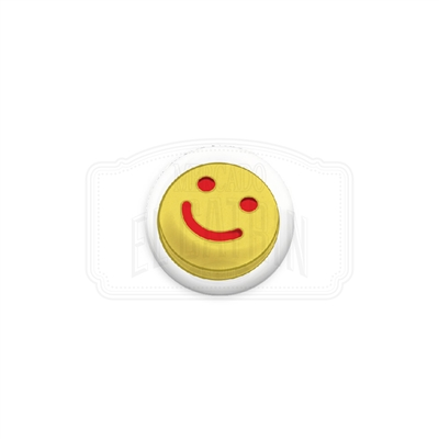 "Happy Face Galleta 1"" (Inch) Button"