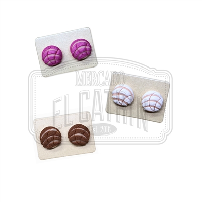 Pan Dulce Concha Stud Earrings