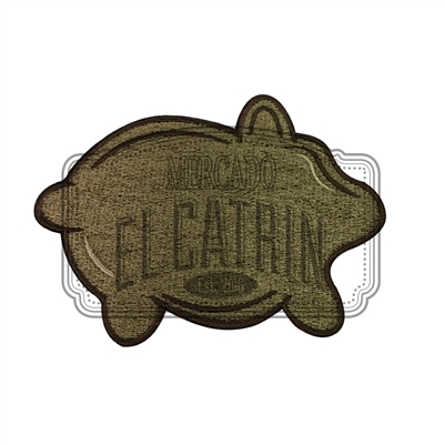Puerquito Embroidered Patch
