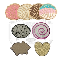 Pan Dulce Mini Embroidered Patches