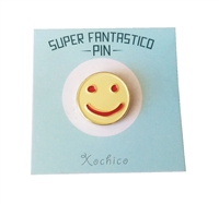 Galleta Happy Face Lapel Pin