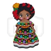 """Chiapaneca"" Traditional Dress Magnet, Wooden"