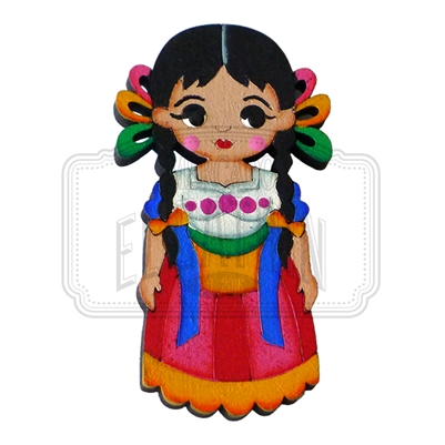 """Otomi"" Traditional Dress Magnet, Wooden"