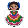 """Tapatia"" Traditional Dress Magnet, Wooden"