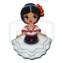 """Veracruzana"" Traditional Dress Magnet, Wooden"