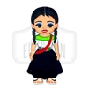 """Orizaba"" Traditional Dress Wooden Magnet"