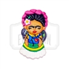 """Frida Miko"" Clay Magnet"