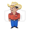 """Vaquero"" Traditional Style Wooden Magnet"