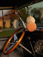 "Pan Dulce Concha ""Fuzzies"" Car Mirror Hangers - Strawberry/Chocolate"