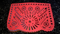 "Double-sided Felt ""Papel Picado"" Placemat Sets (Girasol Pattern)"