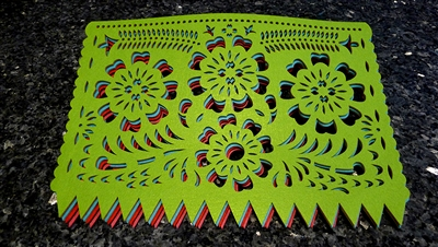 "Double-sided Felt ""Papel Picado"" Placemat Sets (Cempasuchitl Pattern)"