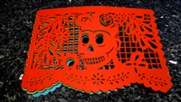 "Double-sided Felt ""Papel Picado"" Placemat Sets (Florecita Pattern)"