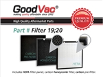 GoodVac Replacement Filter Kit made to fit Oransi Max air purifiers