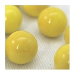 14mm Opal/Solid Yellow Marbles 1 lb Approximately 120 Marbles