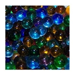 *14mm Assortment Transparent Marbles 1 lb Approximately 120 Marbles