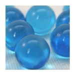 14mm Transparent  Blue/Azure Marbles 1 lb Approximately 120 Marbles