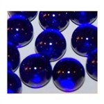 14mm Transparent Cobalt Marbles 1 lb Approximately 120 Marbles