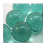 14mm Transparent Green Teal Marbles 1 lb Approximately 120 Marbles