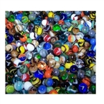 *16mm Assortment Player Styles Marbles 1 lb Approximately 85 Marbles
