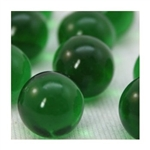 16mm Crystal Green Player Marbles 1 lb Approximately 85 Marbles