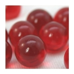 16mm Crystal Red Player Marbles 1 lb Approximately 85 Marbles