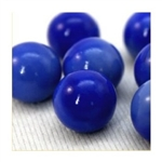 16mm Opal/Solid Blue Player Marbles 1 lb Approximately 85 Marbles
