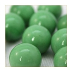 16mm Opal/Solid Green Player Marbles 1 lb Approximately 85 Marbles