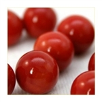 16mm Opal/Solid Red Player Marbles 1 lb Approximately 85 Marbles