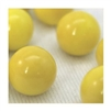 16mm Opal/Solid Yellow Player Marbles 1 lb Approximately 85 Marbles