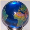 23mm Earth Transparent Blue with Natural Color Continents Each