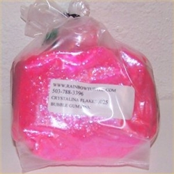 Glitter Crystalina Flakes Bubble Gum Pink 1-lb 378025