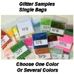 1 - Glitter Flakes Single Sample Bags $1.25 EACH SAMPLE -  CHOOSE ONE OF EACH COLOR YOU WANT A SAMPLE OF