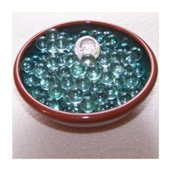 GR Clear 10mm No Hole Glass Deco Beads Mini Marbles 1 lb Approx 347 Beads/Marbles  GREEN TINT