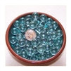 GR Clear 12mm No Hole Glass Deco Beads Mini Marbles 1 lb Approx 200 Beads/Marbles GREEN TINT