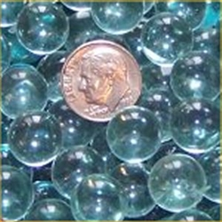 GR Clear 12mm Micro Round Marbles 44 lbs GREEN TINT