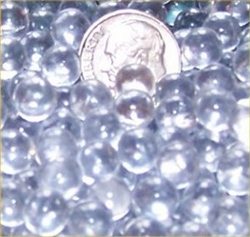 Clear 6mm Micro Round Marbles 44 lbs
