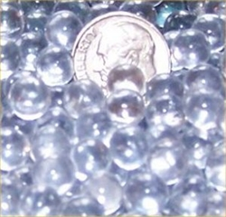 Clear 7mm Micro Round Marbles 44 lbs