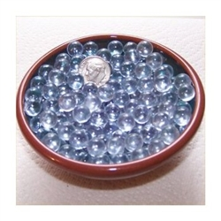 Clear 9mm No Hole Glass Deco Beads Mini Marbles 1 lb Approx 476 Beads/Marbles